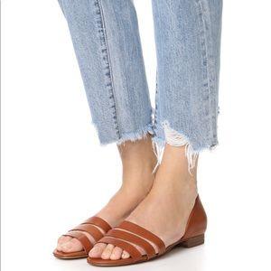 Madewell Leila brown Sandal flat size 9